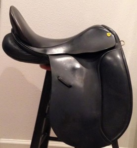 "used Revere dressage saddle, 18"" wide, short flaps, great condition $2,500.00"